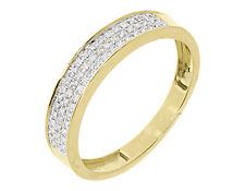 Yellow Gold Pave Round Diamond 4.5mm Mens Fashion Band 0.25 ct 10k