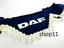 Daf Gardinen Frontscheibe Verzierung Scheibenborde Vorhänge Blau Weiss Gold