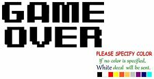 GAME OVER Funny Vinyl Decal Sticker Car Window bumper laptop tablet Boat 12""