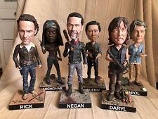 Walking Dead Royal Bobbles Set Limited Edition Negan Daryl Dixon Rick Grimes