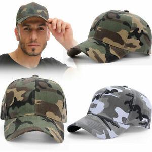 3x Mens Womens Army Camo Military Cadet Combat Fishing Baseball Caps Camouflage