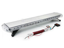"""132 LED 46"""" Emergency Beacon Wrecker Flasher Roof Warn Strobe Light Amber&White"""