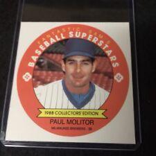 1988 Fantastic Sams Collector Sheet Hand Cut Paul Molitor *06469