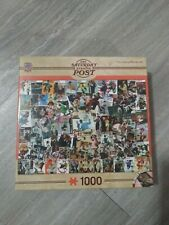 1000 piece Master Pieces Norman Rockwell puzzle Saturday Evening Post used games