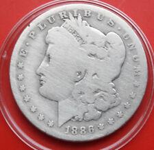 USA-Amerika: 1 Morgan Dollar 1886-O (New Orleans) .900 Silber, KM# 110 #F 2378