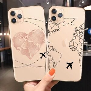 World Map Travel Soft TPU Phone Cases For iPhone 11,11 pro ,12,12 pro ,12pro max
