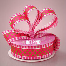 1 1/2 inch wide Polka Stripe Ribbon price for 2 yard