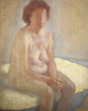 Nude female vintage oil painting