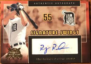 2005 Fleer America's National Pastime Signature Swings GOLD Ryan Raburn SS-RR