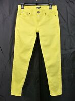 J. Crew Yellow Stretch Jeans Size 25 Toothpick Skinny Cotton