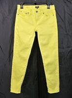 J. Crew Yellow Stretch Jeans Size 25 Toothpick Skinny Cotton