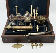 Antique Civil War Stomach Pump Medical Kit Bleeder Cupping Scarificator Brass