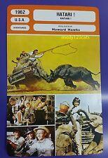 US Action Adventure Romantic Drama Hatari John Wayne French Film Trade Card