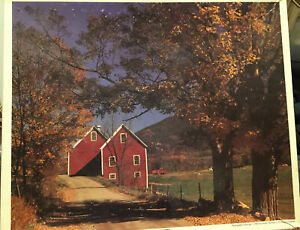 """Whitman """"New England Barns"""". 1500 Piece Puzzle"""