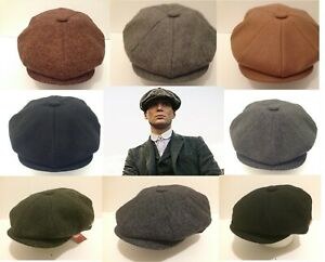 peaky blinders style newsboy baker boy cap aka paper boy cabby modern flat cap