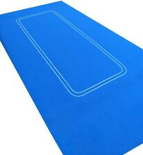 BRIGHT * BLUE * TEXAS HOLD EM / POKER FELT - NEW THICK BAIZE LAYOUT