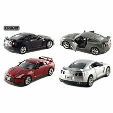 "4 PC Set : New 5"" Kinsmart 2009 Nissan GT-R R35 Diecast Model Toy Car 1:36"