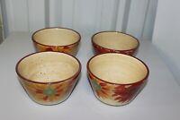 Pfaltzgraff Bowl Evening Sun Soup Cereal Bowls - Red/Orange Handpainted