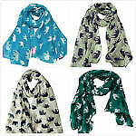 Womens Elephant Print Scarf Shawl Ladies Soft Long Scarves Girls Cute Gift