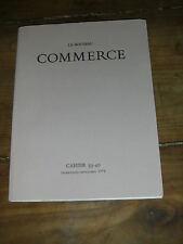 Le nouveau commerce CAHIER 39/40 PERROS SOLMI BLANCHOT KNUSTON MESCHONNIC SUARÈS