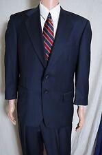 Alan Lebow by Hartz blue textured pinstripe 2 piece suit 2 button 42 37.5X27.75