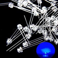 100 pcs 5mm Straw hat Purple UV LED Wide Angle Light lamp Free Shipping New