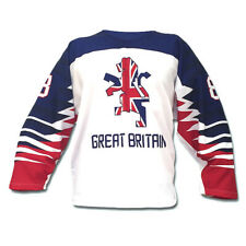 Team Great Britain White Ice Hockey Jersey 2019 Custom Name and Number
