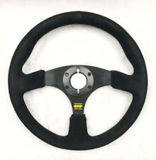UKNEST Universal Steering Wheel 350 mm Suede Black for OMP MOMO SPARCO ND