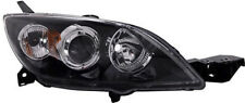 Black clear finish Right side H7 H7 headlight for MAZDA 3 BK 03-09 TYC