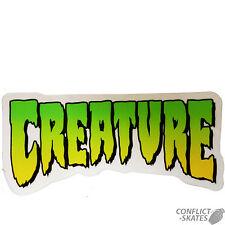 """Creatura """"Logo"""" Skateboard Snowboard Adesivo Decalcomania 11cm x 5cm Verde"""