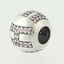 NEW Pandora Surrounded by Hope Bead Charm - Sterling Pink CZs Retired 791418PCZ