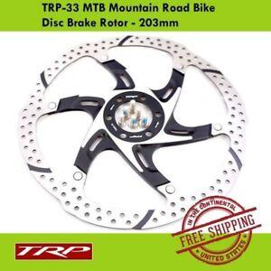 TRP TRP-33 MTB Road Bike Disc Brake Rotor 2 PIECE DESIGN- 203mm HY/RD Spyre