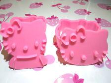 2 x 3D Hello Kitty Backform/Fondant/Keksaustecher/Marzipan NEU !!!