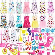 Total 114pcs - 16 Pack Clothes Party Gown Outfits for barbie dolls+ 98pcs Dolls