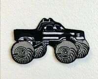 Monster Truck Toy American Black Embroidered Iron on Sew on Patch j1772B