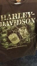 Harley-Davidson Military Men's Graphic T-shirt Dog Tags Large