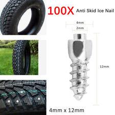 100X 12mm Tire Stud Anti Slip Tyre Spike Wheel Lug Anti Skid Ice Nail Snow Stud