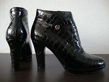 BELSTAFF CHRIS REPTILDESIGN LACK Ankle Boot Stiefelette Damen Leder Gr.37 NEU