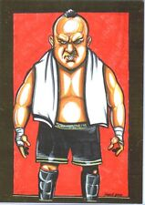 TNA Samoa Joe Caricature #103 2013 Impact LIVE GOLD Short Print Card SN 21 of 50