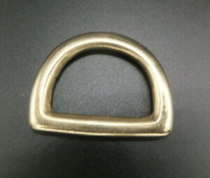 """Solid Cast Brass D Rings Leathercraft [ 1/2"""" - 2"""" - 12 mm- 50 mm ] Various Packs"""