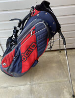 OGIO WOODE STAND BAG (BLUE/RED) w/ DOUBLE CARRY STRAP - GREAT CONDITION!