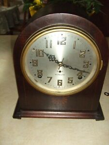SETH THOMAS (PLYMOUTH) round top mantle clock Exceptionally clean! REDUCED!