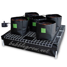 COMPLETE 5 BAG HYDROPONIC SYSTEM WATERING GROWING KIT AND WATER PUMP 4 GROW TENT