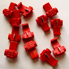 12 x RED SNAP ON (SCOTCHLOK TYPE) QUICK SPLICE AUTOMOTIVE CABLE JOINER CONNECTOR
