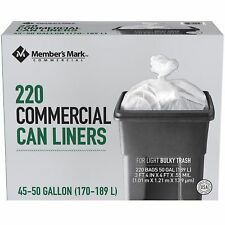 Member's Mark 45-50 Gallon Commercial Trash Bags 220 ct.