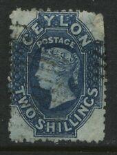 Ceylon QV 1863 2/ blue used