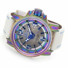 Invicta  49mm Pro Diver Magnum Automatic Iridescent Case Leather Strap Watch