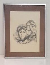 'Drums of Dawn' Native American Ltd Ed Lithograph Framed 16x20