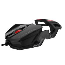 MAD CATZ RAT 1 Optical PC Windows Programmable Gaming Mouse Black Red NEW BX DAM