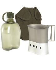 Mil-Tec 4 Piece US Army style Gen II Canteen Set,Bottle,Cup,Stove & MOLLE Pouch